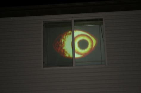 Eye of Fire without blacklight. Flash on camera went off too.