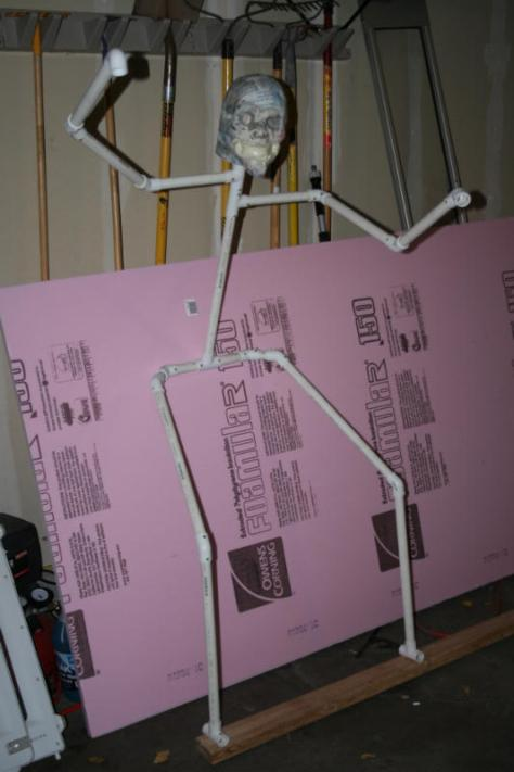 "I built the body out of PVC pipe. I used 1"" screws to secure them all together."