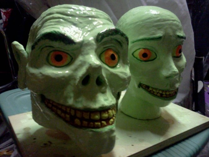 Creepy, Dancing, Paper Mache Ghosts