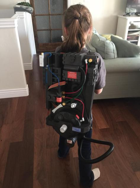 Spirit Halloween Proton Pack right out of the box.