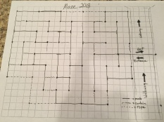 2018 Maze design.